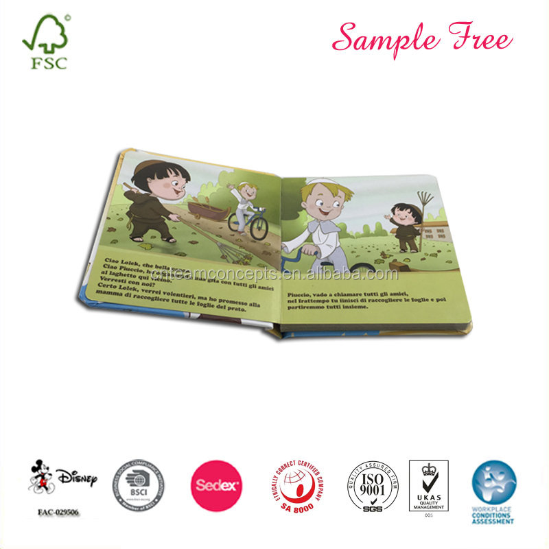 Brand Printing Content Child Chipboard Book