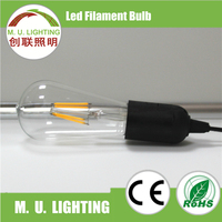 Energy saving element globe hot sell dimmable Led Filament Bulb,ST64 LED filament lights