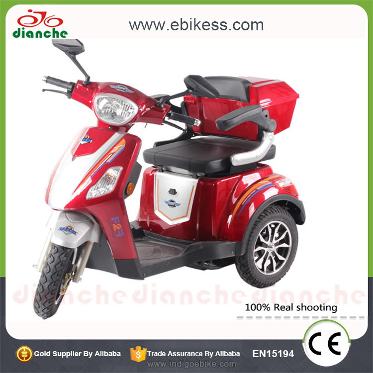 Factory wholesale 3 wheel electric tricycle mobility scooter for elderly can add bluetooth with low price