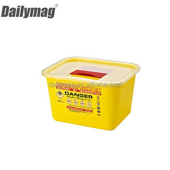 New Style plastic sharps container waste bin Small Size 6L