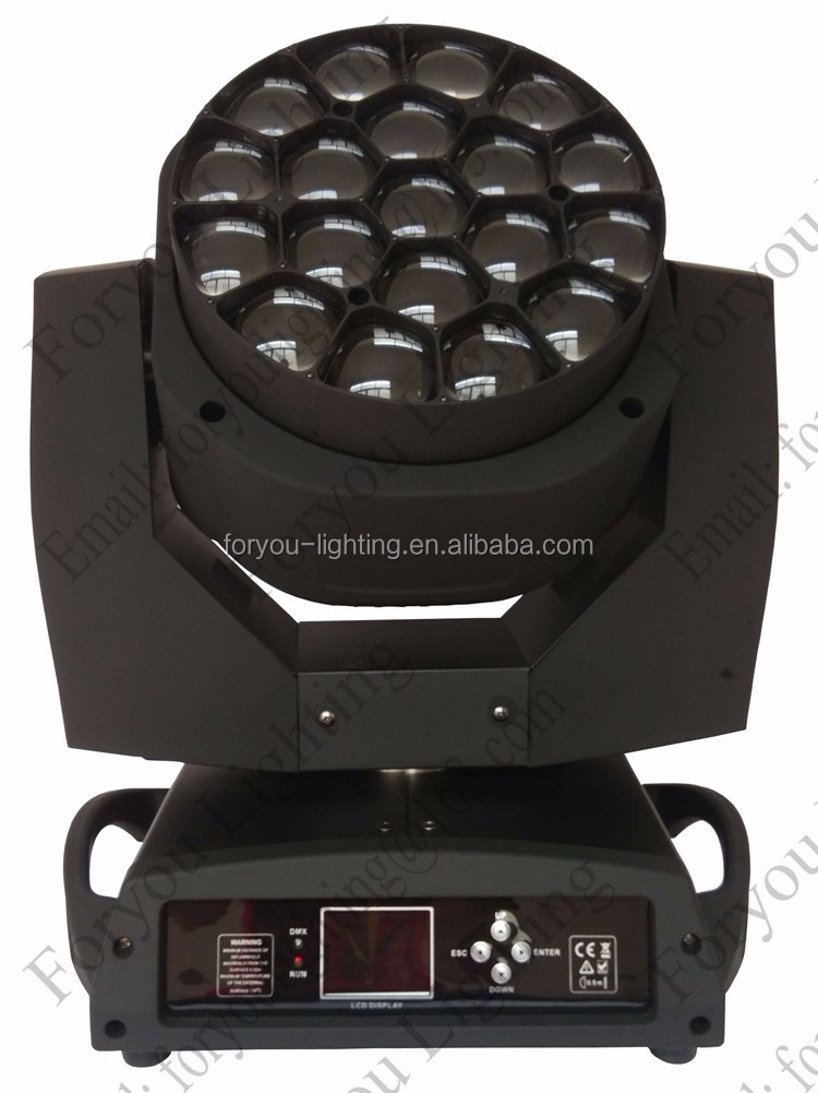 Wash Beam 2in1 FX Pixel Effects 19pcs 15W RGBW 4IN1 LED B-eye K10 Moving Head Disco DJ Light