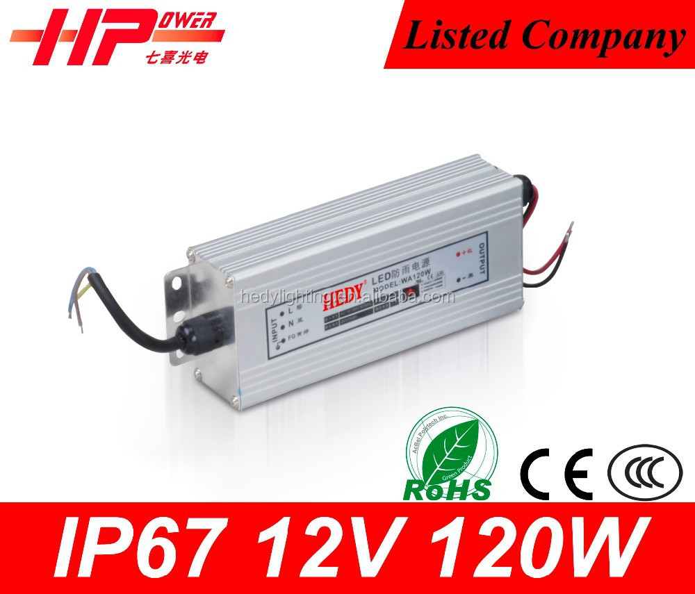 Best quality products aluminum waterproof constant voltage single output 120w cctv camera power supply 12v 10a power inverter