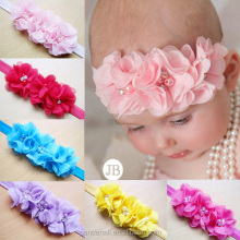 Fancy Big Chiffon Flower Baby Headband Kids Hairband(OHAR-S115-M09)