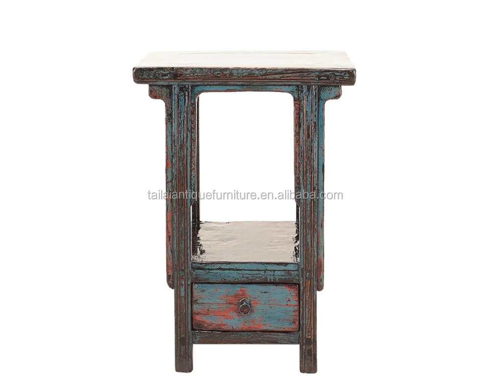 living room painted accent & end table with drawers tea table antique furniture