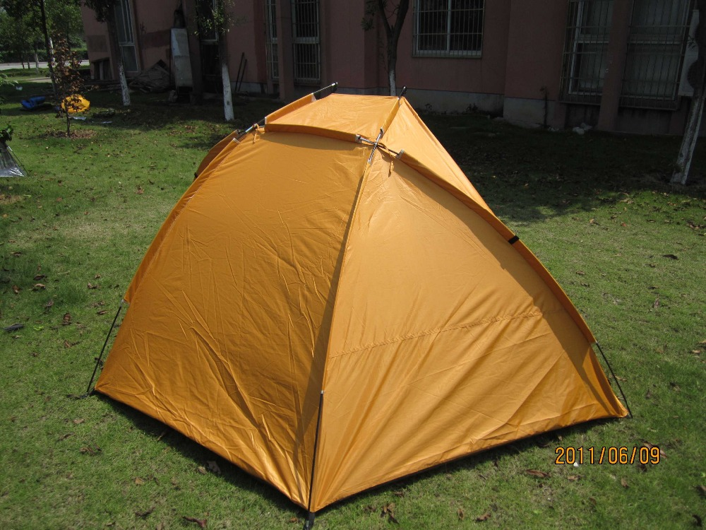 Personal Portable Shelter : Yellow portable sun wind shelter beach shade