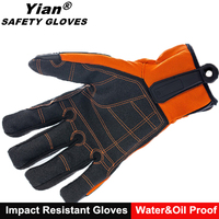 Anti-Impact Oilfield Glove with Kevlar-Reinforced Thumb Crotch