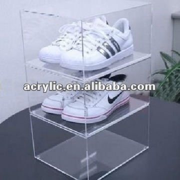 Acrylic tiers shoes display stand