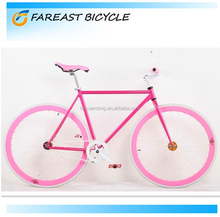 Wholesale high quality adult cheap price carbon steel 700c freestyle fixed gear road bike factory