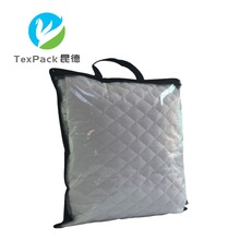 Logo Printing Vinyl Bedding Quilt Storage Clear PVC Plastic Zip Lock Packaging Bag with Pocket