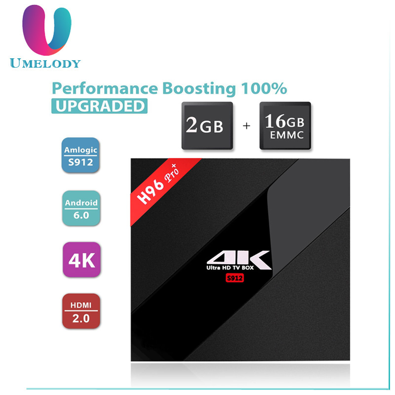 Wholesale Android 6.0 TV Box H96 pro plus 3GB 32GB Amlogic S912 Octa Core digital cable tv set top box