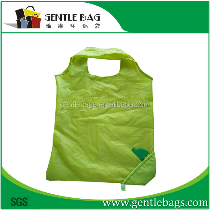 Rose shape nylon eco-friendly folding shopping handle bags Reusable promotional Tote Bag