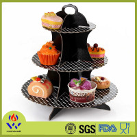 Black polka dots cake stand from wholesale party suppliers