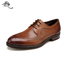 Mens shoes Italian design cow leather made high quality shoes