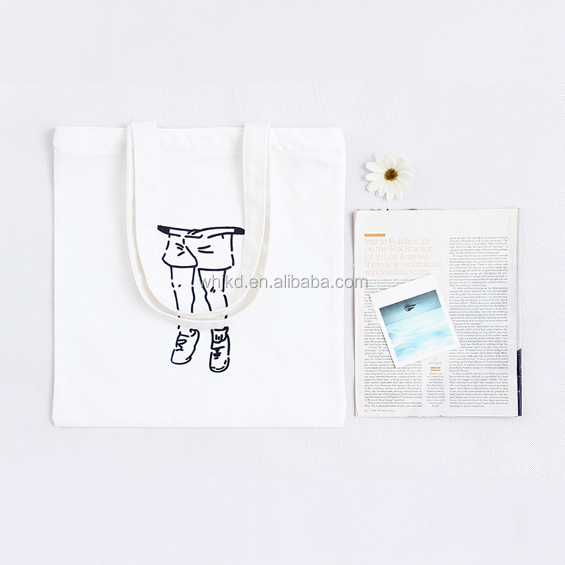 Factory promotional customized logo tote bag canvas cotton cheap hand bag for shopping