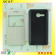 PC+PU window leather case For Huawei Y220