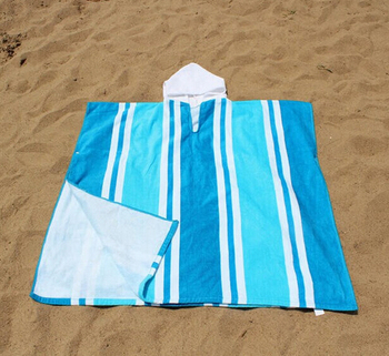promotional children velour hooded towel poncho towel