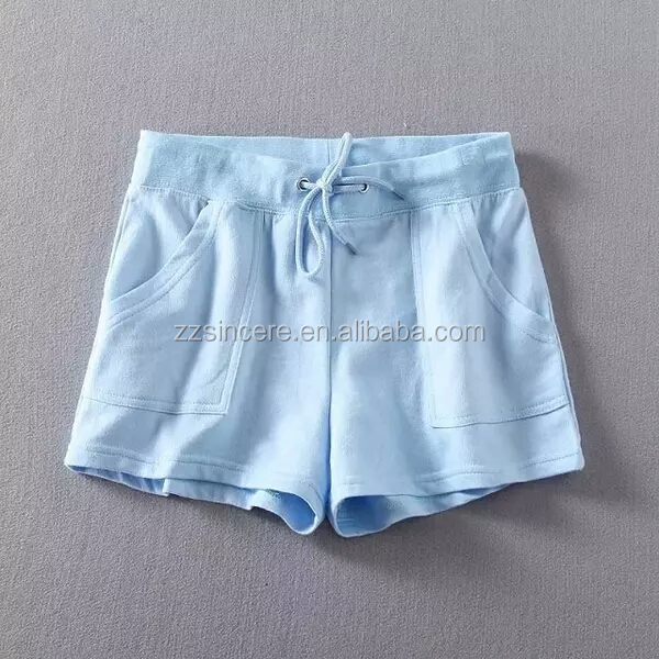 New design comfortable mix size drawstring waist pink blank soft cotton women sexy booty shorts