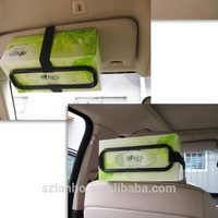 Auto Accessories fancy rectangular tissue Car Sun Visor Tissue paper Box Holder