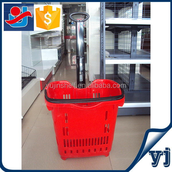 Favorable 2 wheels shopping trolley smart cart/Plastic go cart/Shopping Trolley Smart Cart Manufacturers