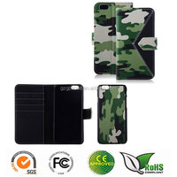 New design Camouflage design wallet leather case for iPhone 6 4.7""