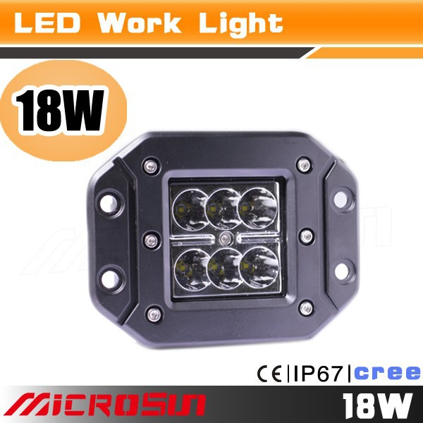 18w cheap popular flush mount led work light in china