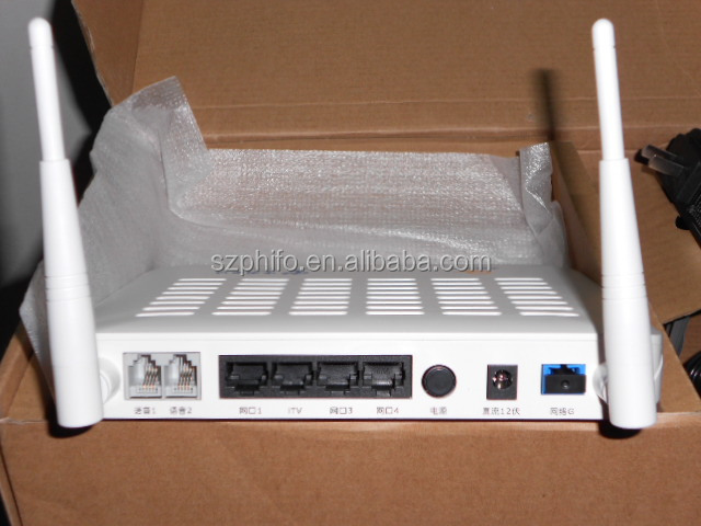 Alcatel Lucent Bell optical network terminal FTTH ONT I-240W-Q GPON ONU with 4 ethernet ports and two telephone ports