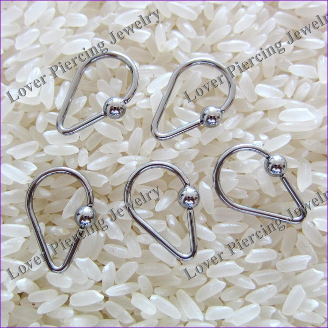 Fashion Design 316L Stainless Steel Body Piercing Jewelry Ball Closure Rings [SS-C401A]