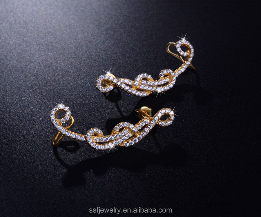 charm women jewelry design indian clip on earrings wholesale