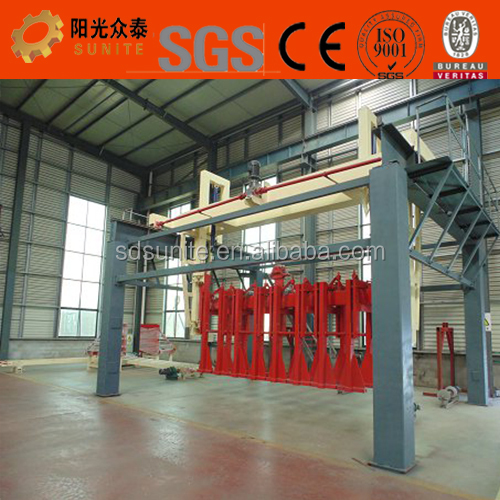 AAC block production line using fly ash , cement , sand and gypsum