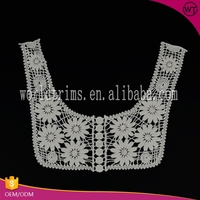 Guangzhou garment accessories off white types of laces for garments