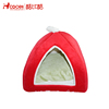 Wholesale christmas style microfiber red triangle cat pet bed with 2cm foam mat