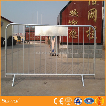 Hot-Dipped Galvanized Or Powder Coated Aluminum Crowd Control Barrier