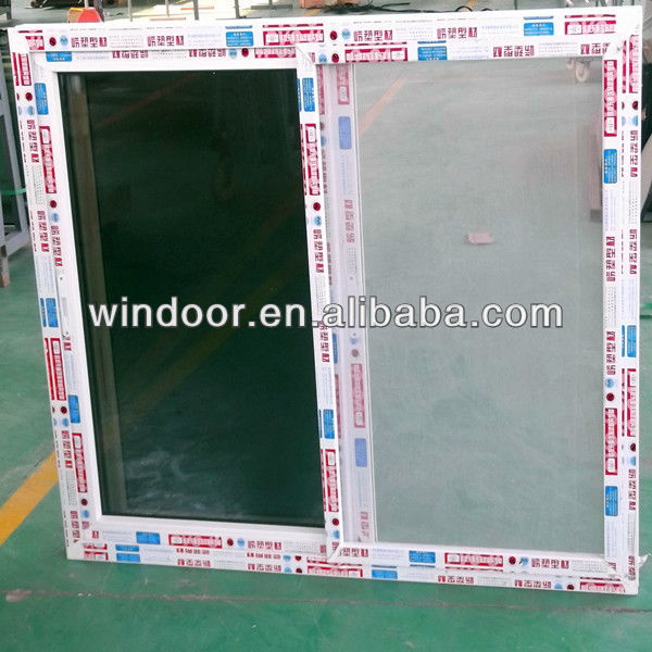 Anti Aging Pvc Sliding Screen Windows With Coated Glass