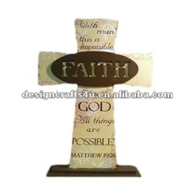 resin nativity cross for wall decoration