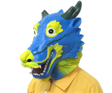 Halloween wholesale custom full head animal latex dragon mask