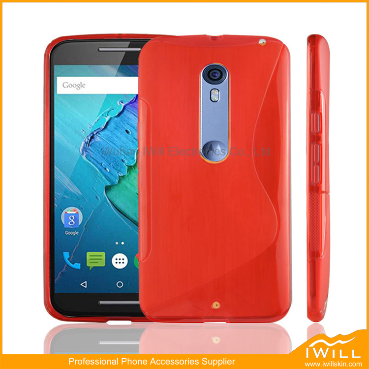 China Supplier S Line TPU Case For Moto X style Cover , S Wave Soft Phone Case For Moto X style Shield