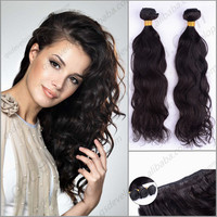 high quality full cuticle unprocessed natural curly 100% virgin remy Indian human hair extension sew in weave