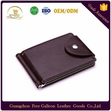Hot sale card holder mini wallet with coin pocket PU leather wallet for men