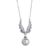 Italina jewelry latest design pearl pendant necklace not freshwater