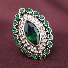 2015 Men Fashion Vintage Jewelry Emerald Ring