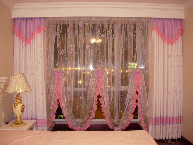 2013 flocking organza curtain