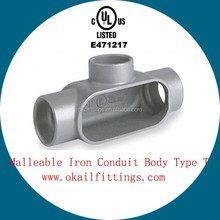 "UL listed Malleable iron Conduit body T Series 1/2""-4"" E471217"