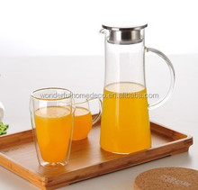 high quality new design glass water jug/glass water filter pitcher/glass water jug with lid