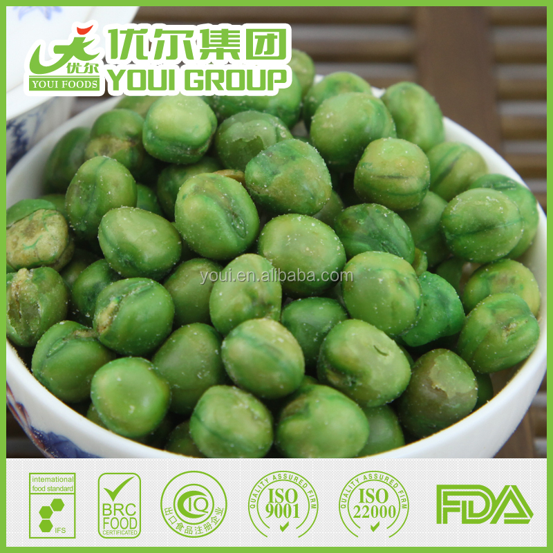 2016 Roasted Green Peas Salted Flavor, Fried Green Peas,BRC Certificated Wholesale Green peas
