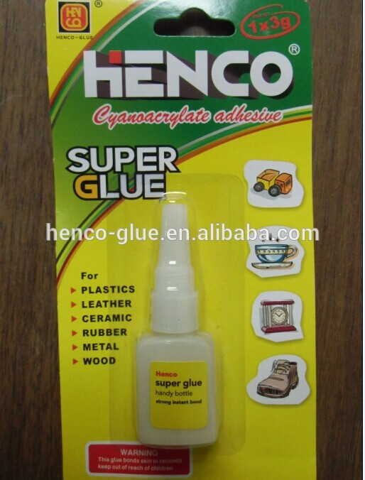 plastic bottle package of super glue