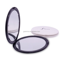 hand-held compact makeup mirror 10X magnifying / fashionable cheap double cosmetic mirror