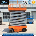 Mobile electric scissor small elevator for 2 person man lift platform