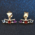 OB Jewelry-0.7ct 3mm Natural Amethyst Garnet Topaz 925 Sterling Silver Jewelry 14K Light Yellow Gold Fine Earrings