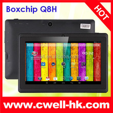 Boxchip Q8H Cheap 7 inch Capacitive Screen Allwinner A33 Quad Core Wifi Andriod Tablet Without SIM Card