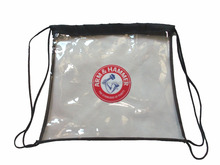 Clear Backpack Promotion Plastic Clear PVC Drawstring Backpack Bag